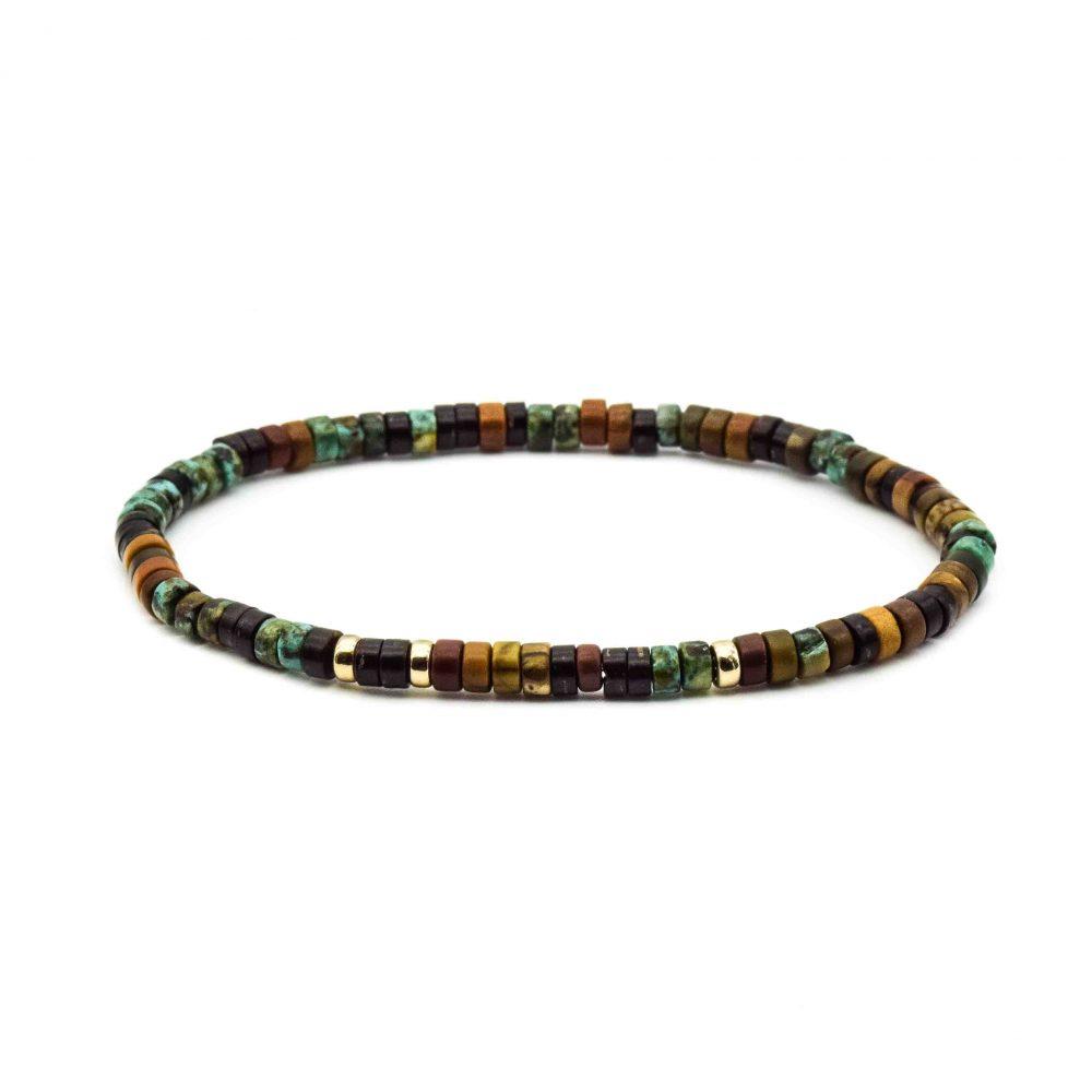 18ct Gold Jasper & Turquoise Heishi Bracelet, jasper bracelet, turquoise bracelet, beaded bracelet, designer bracelet, beaded bracelet with gold, healing bracelet, spiritual jewellery
