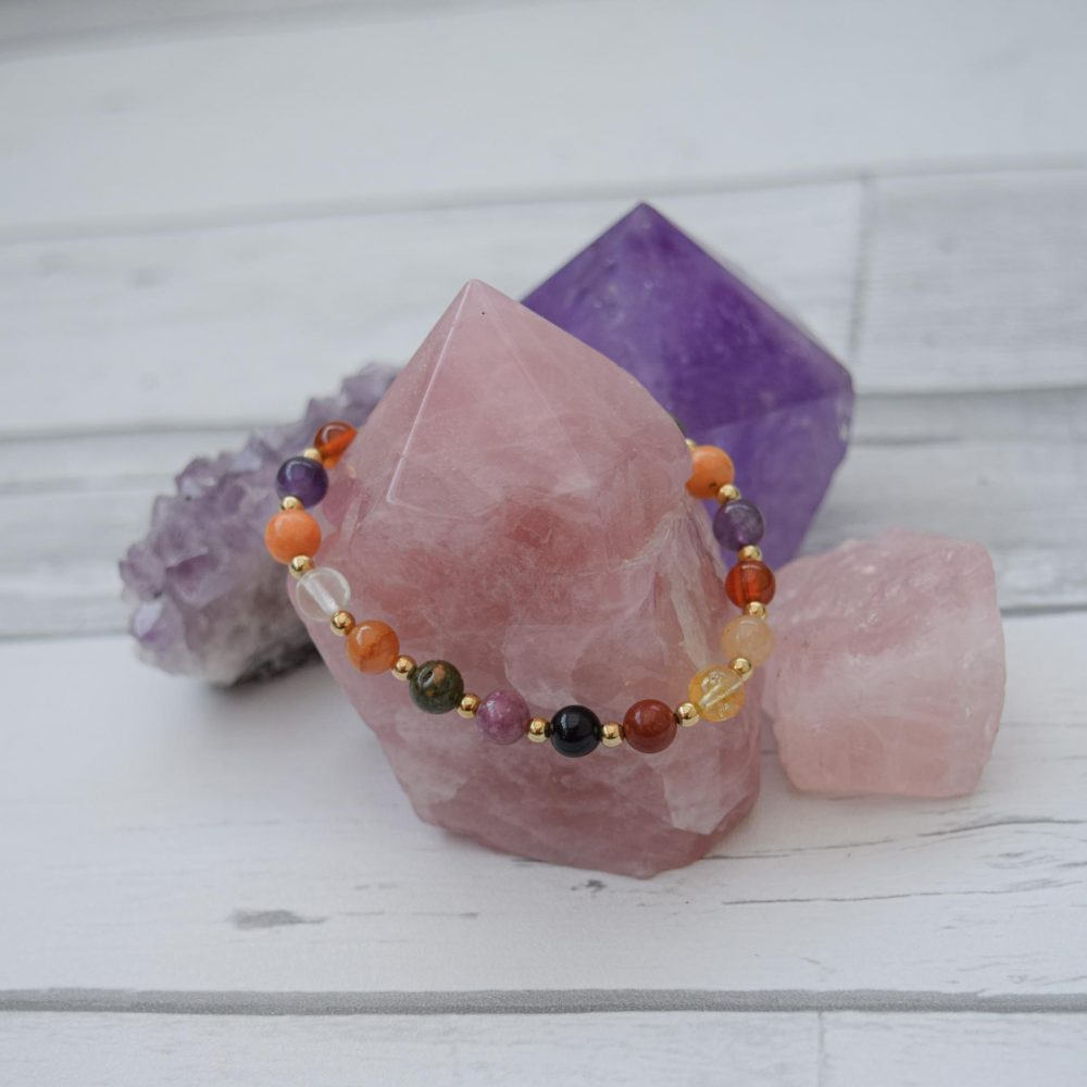 Bracelet for Seasonal affective disorder, bracelet for SAD, gemstone healing bracelet, crystal healing, healing bracelet