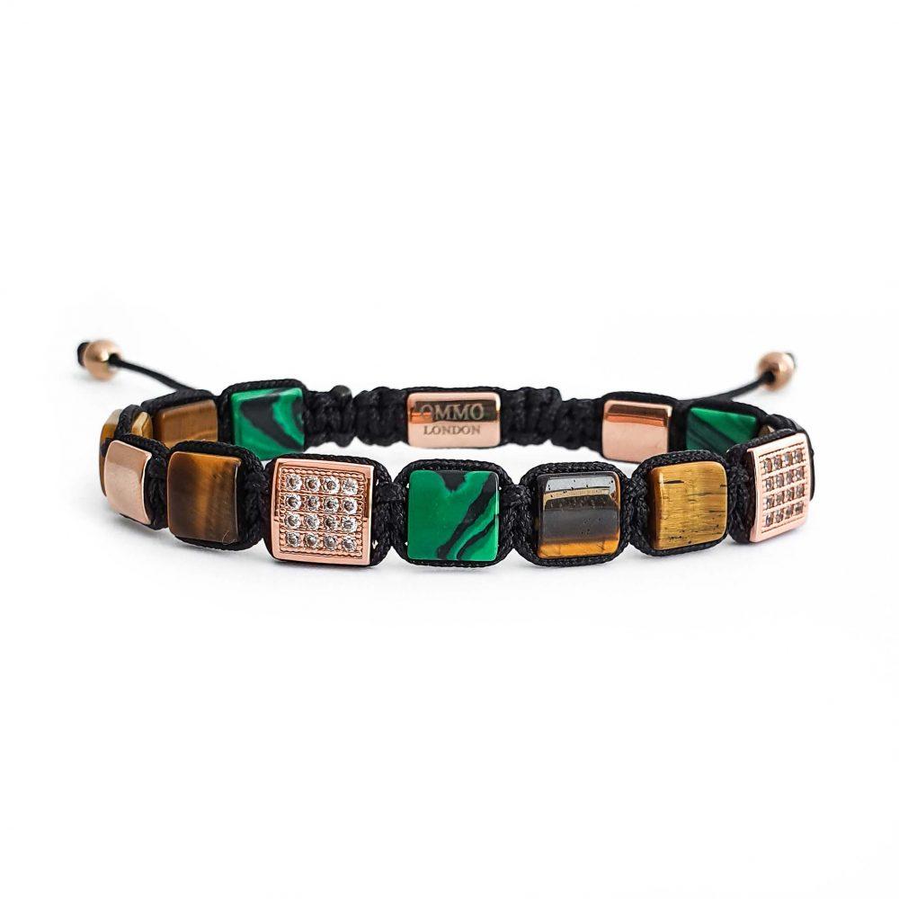 mens tiger eye shamballa bracelet OMMO London | UK, designer bracelet for men shamballa