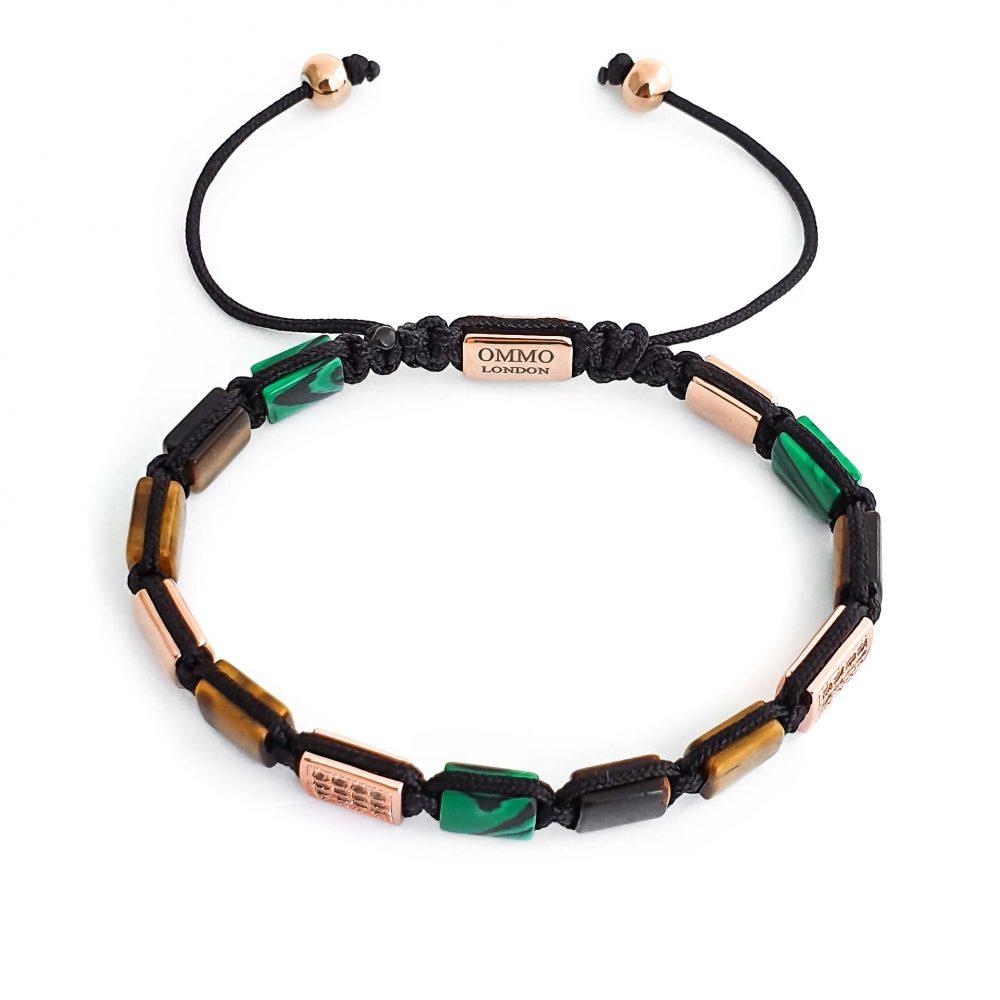 designer bracelet for men shamballa, mens tiger eye shamballa bracelet OMMO London | UK