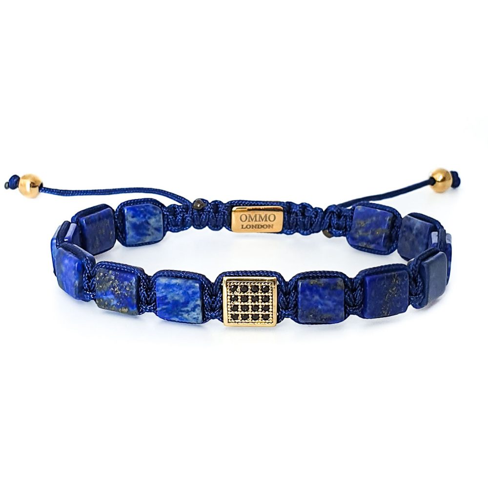 Lapis Lazuli Shamballa Bracelet, blue bracelet, designer bracelet for men, shamballa jewellery, flatbead bracelet, beaded bracelet for men, mens bracelet