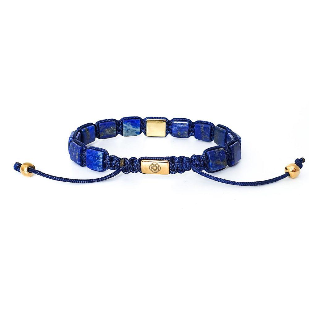 Lapis Lazuli Shamballa Bracelet, blue bracelet, designer bracelet for men, shamballa jewellery, flatbead bracelet, beaded bracelet for men, mens bracelet