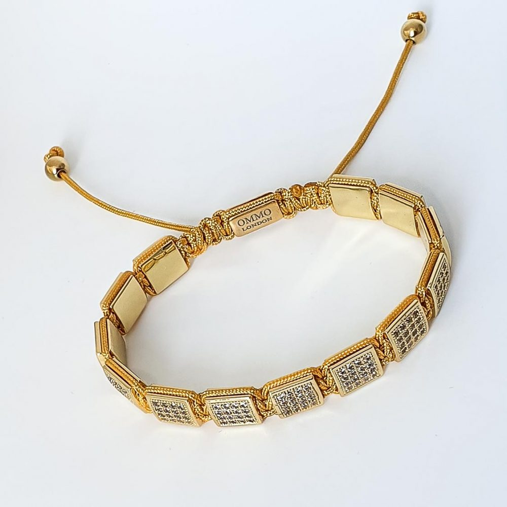 Yellow Shamballa Bracelet, flat bead bracelet, cubic zirconia bracelet, yellow bracelet for men or women, designer bracelet for men or women