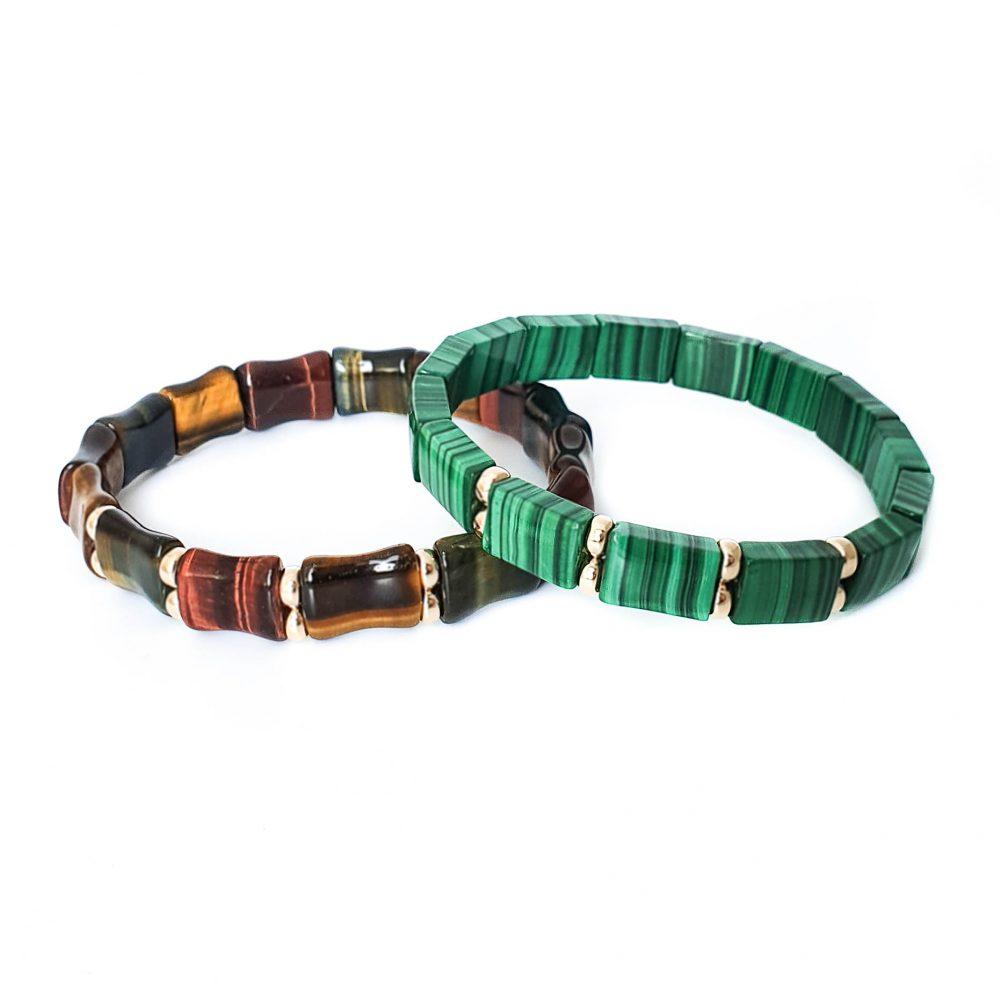Tiger's eye Rectangular Bracelet for Men, 9ct gold bracelet, flat bead bracelet, mens designer bracelets, luxury jewellery. beaded bracelet, tiger's eye bracelet, luxury bracelet, bracelet with gold