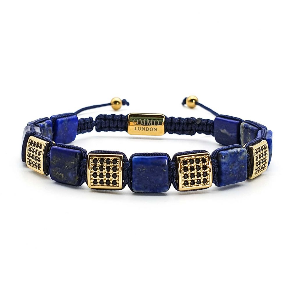 shamballa bracelet, tigers eye bracelet, lapis lazuli bracelet, macrame bracelet, square bead bracelet, luxury designer bracelet for men, lapis shamballa bracelet