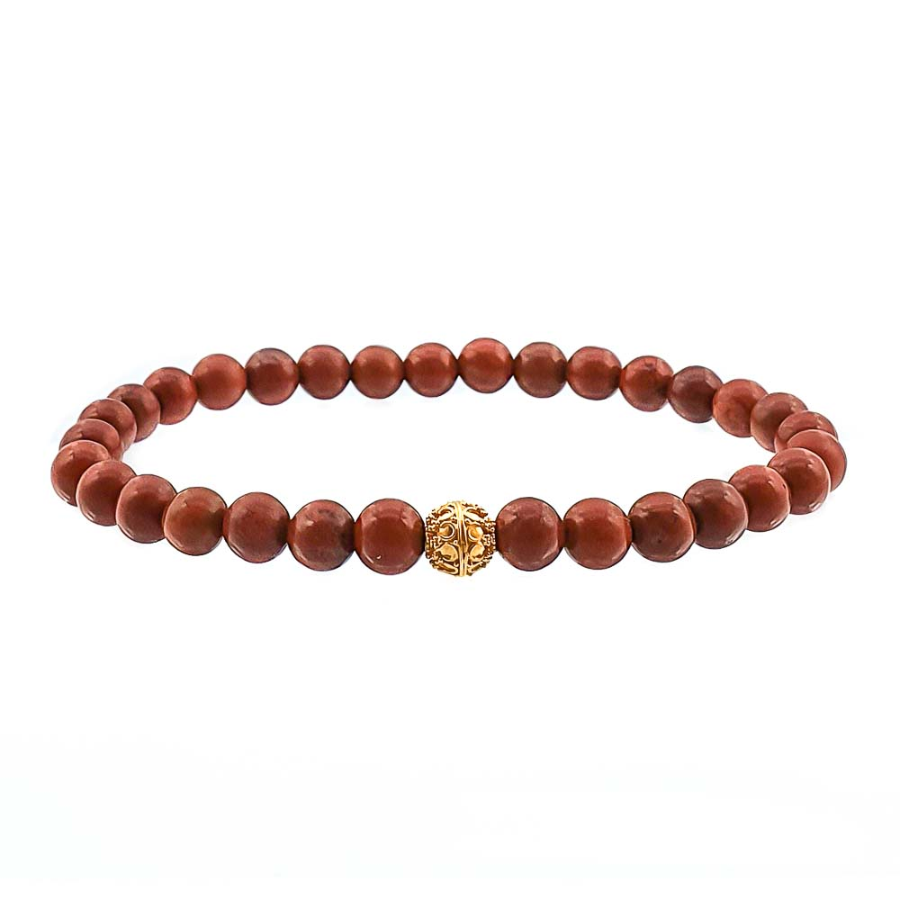 Red jasper and 22k gold bracelet, bali beads bracelet, 22k beaded bracelet, 22kt gold and gemstones bracelet, luxury designer bracelet, healing bracelet