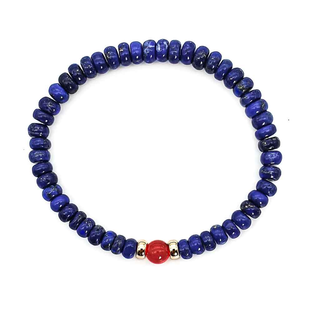 9ct Gold and Lapis Lazuli Bracelet, blue bracelet, lapis bracelet, mens designer bracelet, crystal bracelet, luxury bracelet, gift for him, present for him, bracelet for men