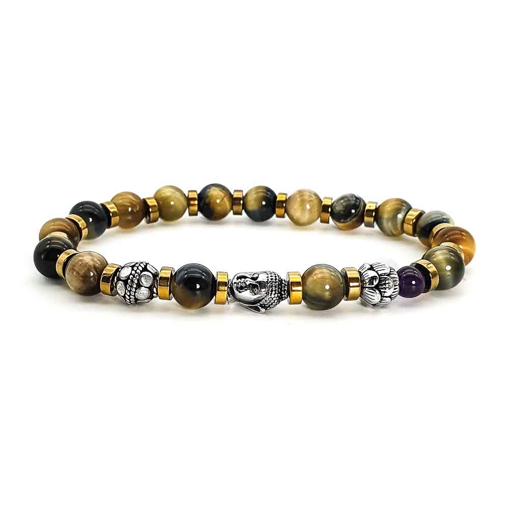 Yellow Tiger's Eye Buddha Bracelet , Yellow tiger's eye bracelet, luxury bracelet, luxury buddha bracelet, designer buddha bracelet, buddha and lotus bracelet