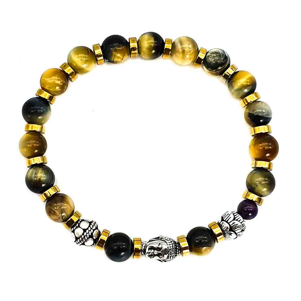 Yellow Tiger's Eye Buddha Bracelet , Yellow tiger's eye bracelet, luxury bracelet, luxury buddha bracelet, designer buddha bracelet, buddha and lotus bracelet