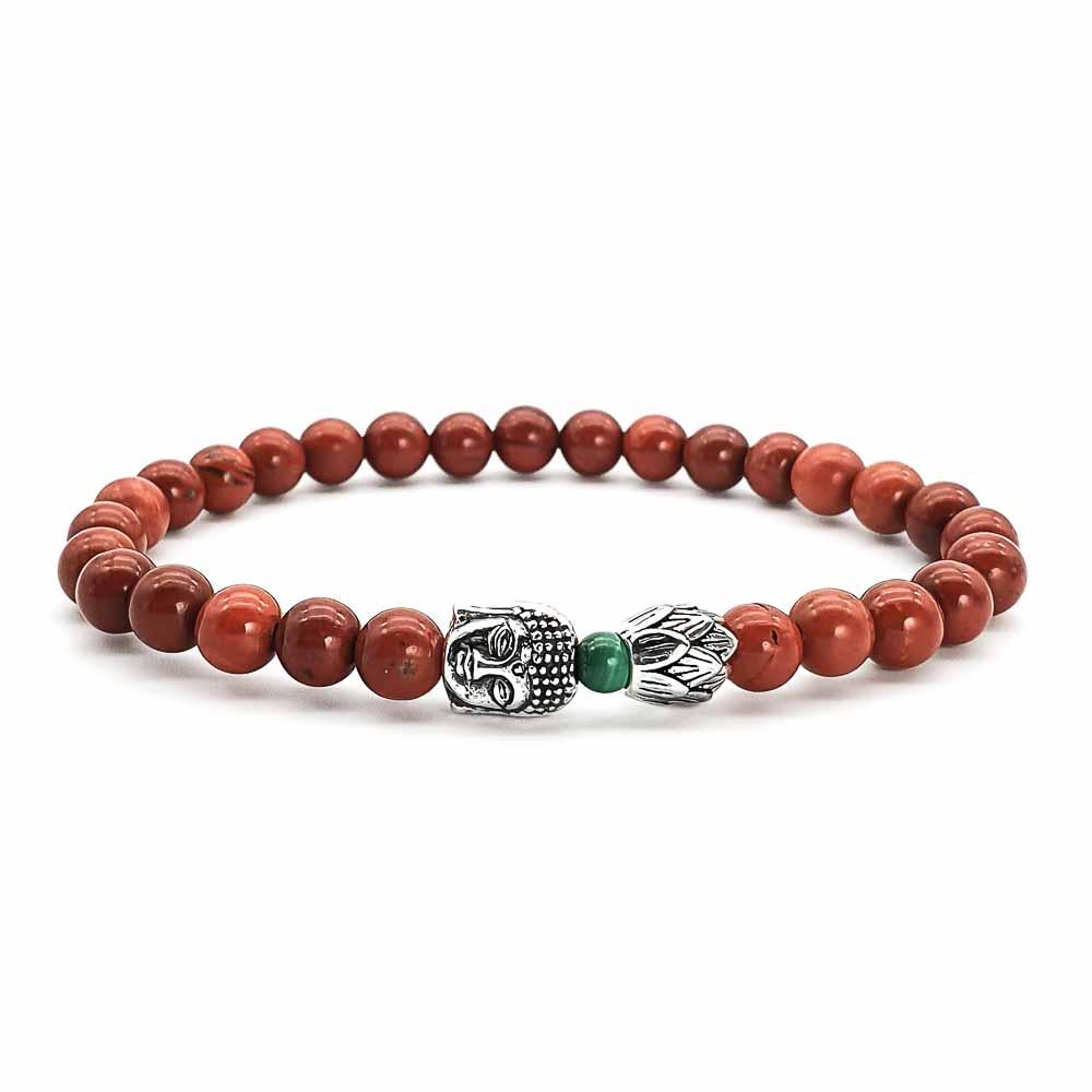 Red jasper buddha bracelet, 925 Sterling silver buddha bracelet, minimalist buddha bracelet, silver lotus bracelet, spiritual jewellery, red bracelet, mens or womens bracelet uk, red jasper buddha bracelet