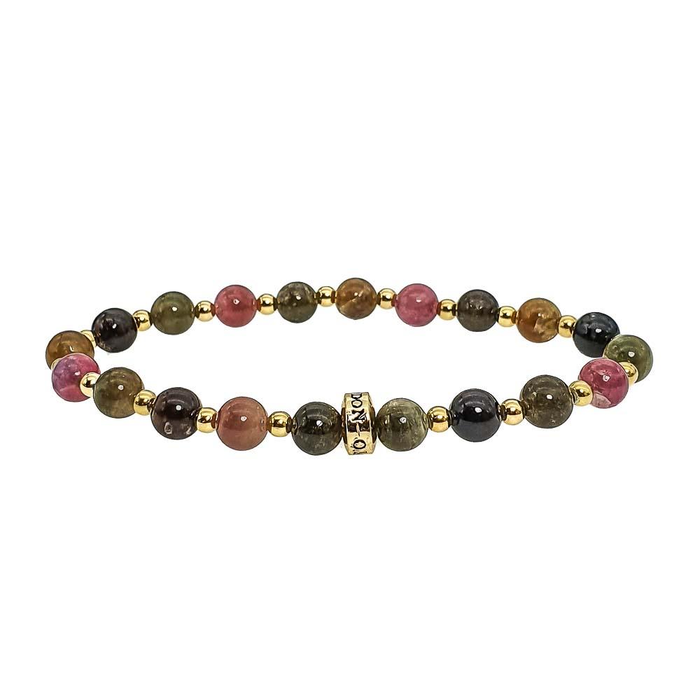 Tourmaline and Gold Bracelet, tourmaline beaded bracelet, crystal bracelet, healing bracelet, chakra bracelet, tourmaline jewellery, designer bracelet