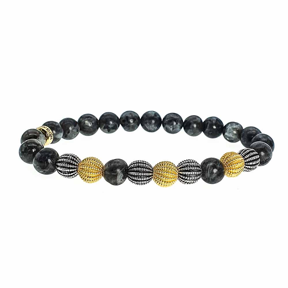 Silver and Gold Labradorite Bracelet