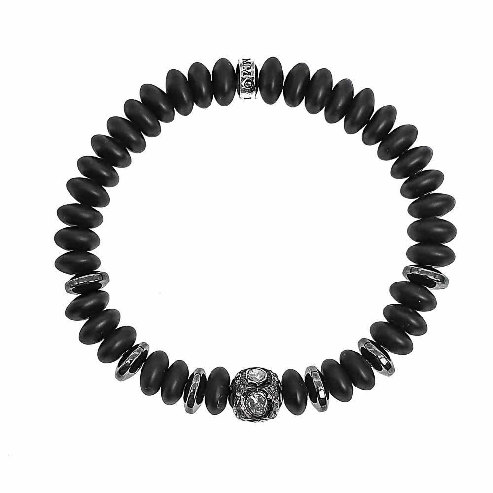 Pave diamond onyx bracelet, diamond bracelet for men,onyx and pave diamond bracelet, onyx luxury bracelet, luxury onyx jewellery. onyx diamond bracelet, black bracelet, mens bracelet, designer mens bracelet