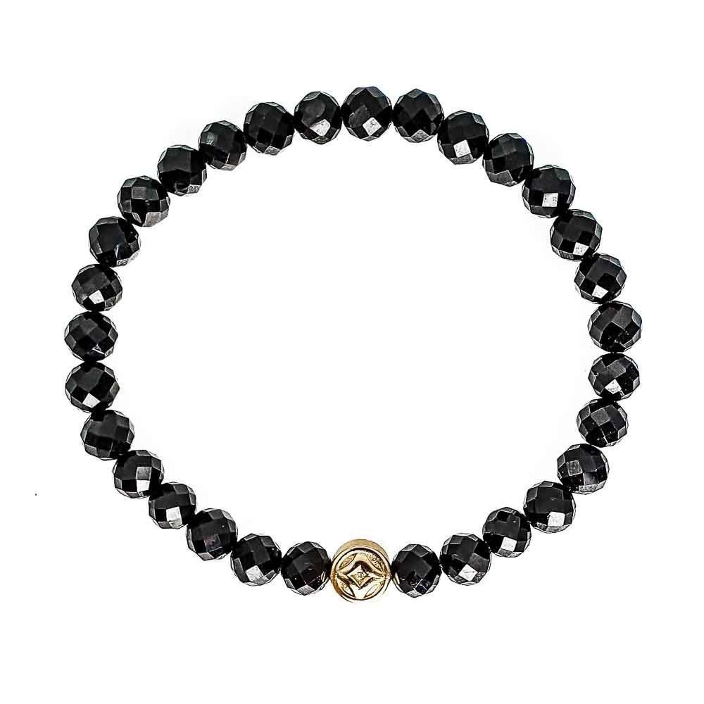 Black Tourmaline Luck Bracelet, double wrap bracelet, Black tourmaline and gold bracelet, black torumaline beaded bracelet, mens designer bracelet, womens designer bracelet, healing crystal bracelet