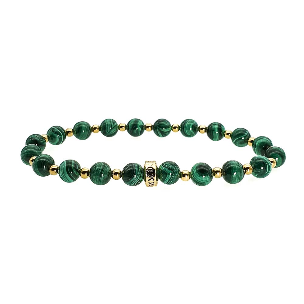 Malachite and Gold Bracelet, malachite jewellery, natural malachite bracelet, malachite bracelet uk, green bracelet, healing bracelet, crystal bracelet, heart chakra bracelet