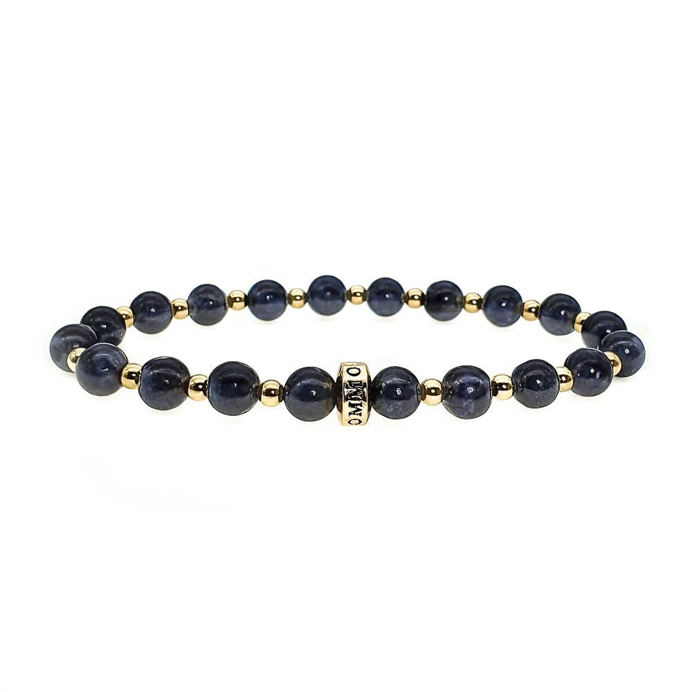 Sapphire and Gold Bracelet, blue bracelet, beaded bracelet with gold, luxury bracelet, designer bracelet, sapphire jewellery, spiritual bracelet, crystal healing, gemstone bracelet
