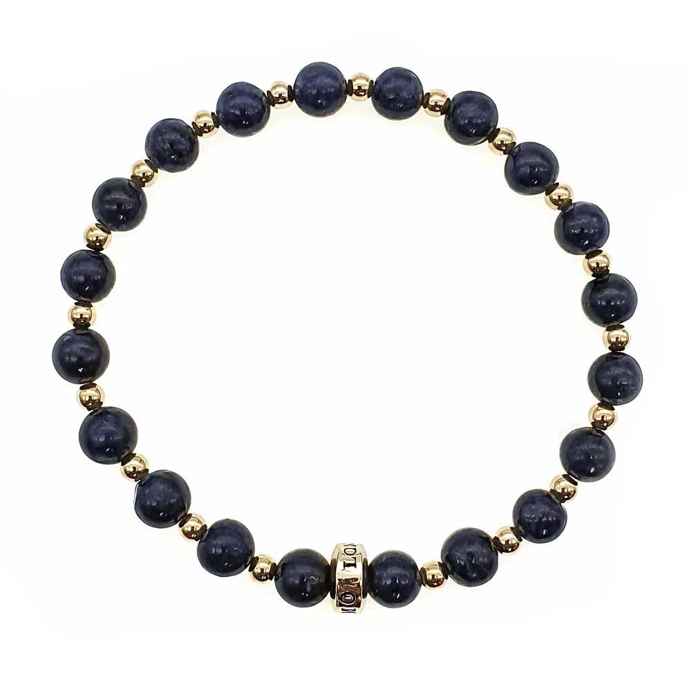 Sapphire and Gold Bracelet, blue bracelet, beaded bracelet with gold, luxury bracelet, designer bracelet, sapphire jewellery, spiritual bracelet, crystal healing, gemstone bracelet