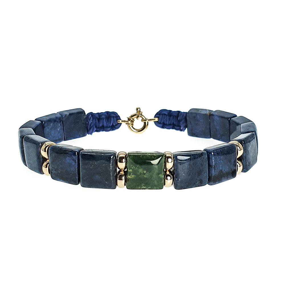 luxury 18ct gold beaded bracelet for men| OMMO London | UK-124810