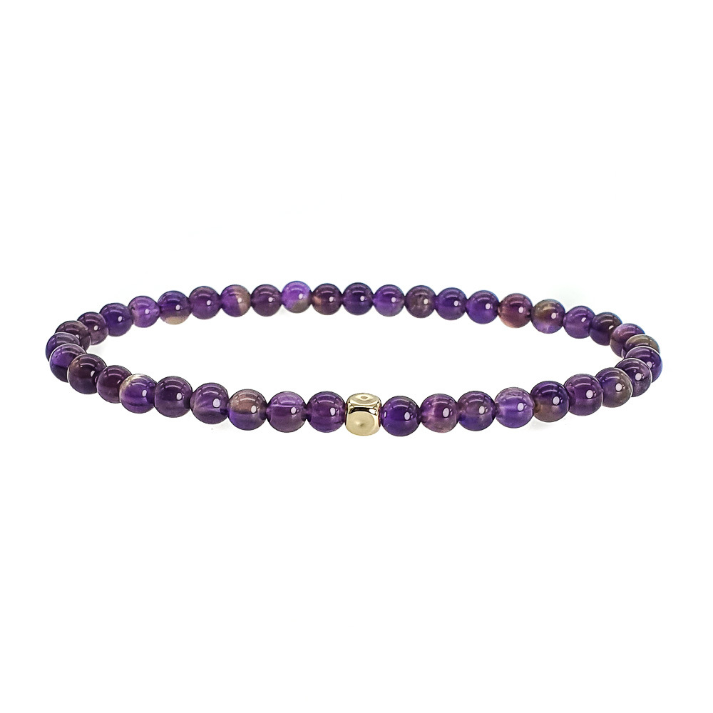 14k Gold and Amethyst Bracelet, purple bracelet, luxury bracelet for men, luxury bracelet for women, designer bracelet for men, designer bracelet for women, aquarious bracelet, healing bracelet, crystal bracelet, 14k gold bracelet