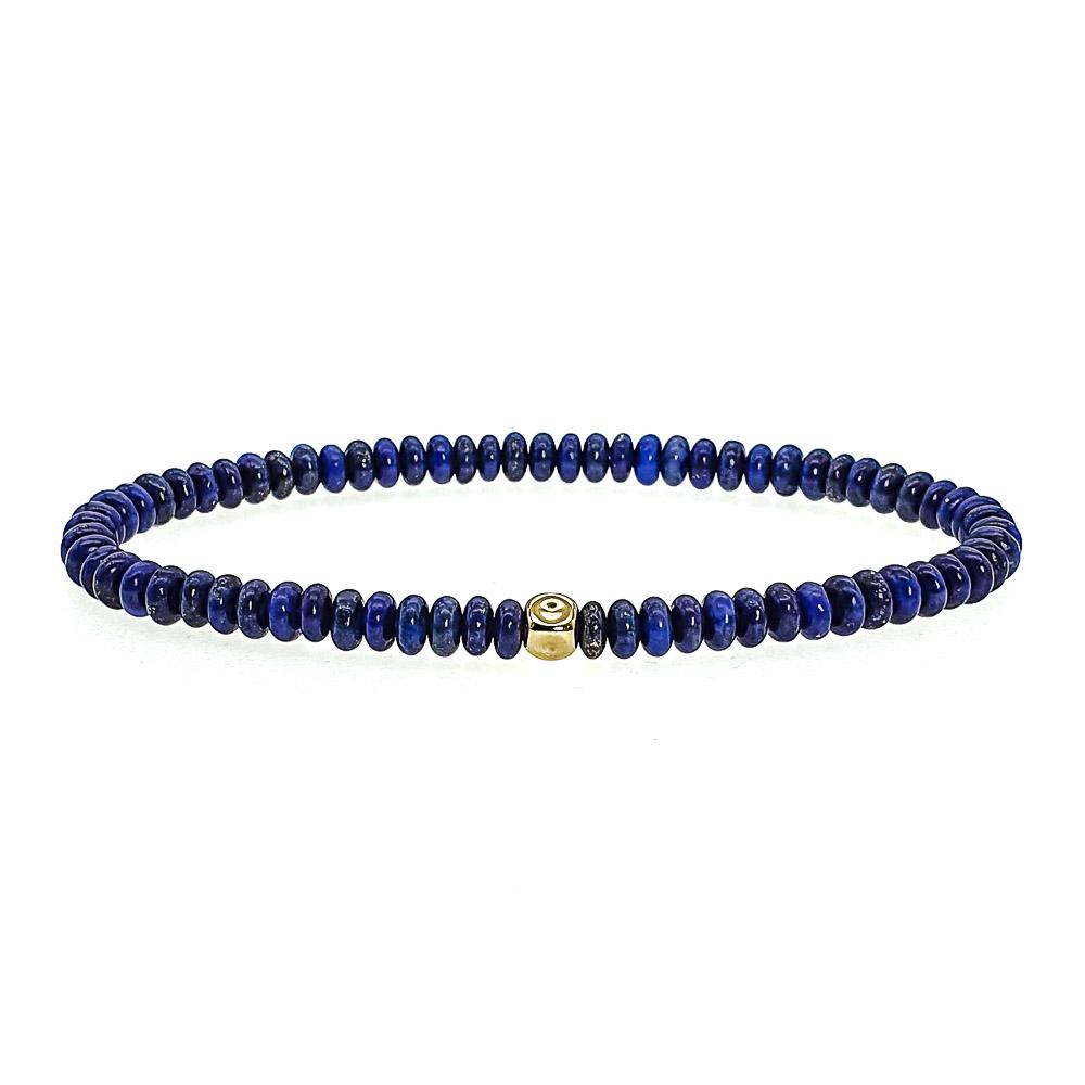 14k Gold and Lapis Lazuli Bracelet , lapis lazuli bracelet, lapis lazuli and gold bracelet, designer bracelet for men, luxury bracelet for men, beaded bracelet with 14k gold, blue bracelet, uk mens bracelets, jewellery