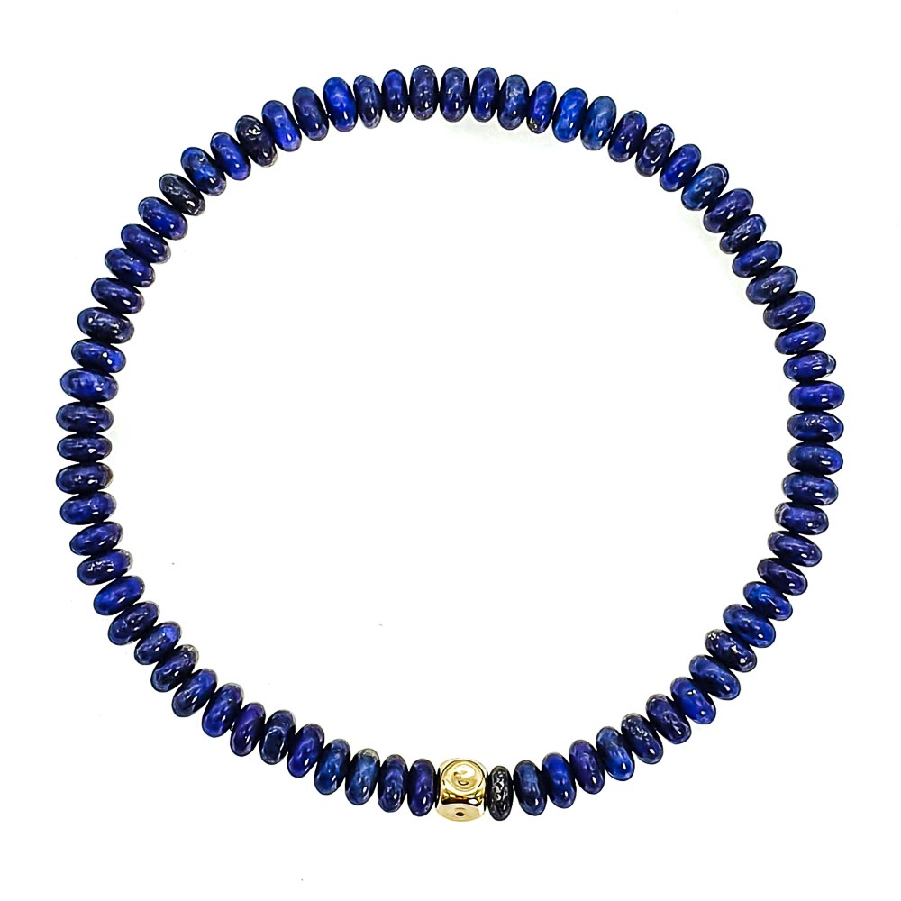 14k Gold and Lapis Lazuli Bracelet , lapis lazuli bracelet, lapis lazuli and gold bracelet, designer bracelet for men, luxury bracelet for men, beaded bracelet with 14k gold, blue bracelet, uk mens bracelets, jewellery