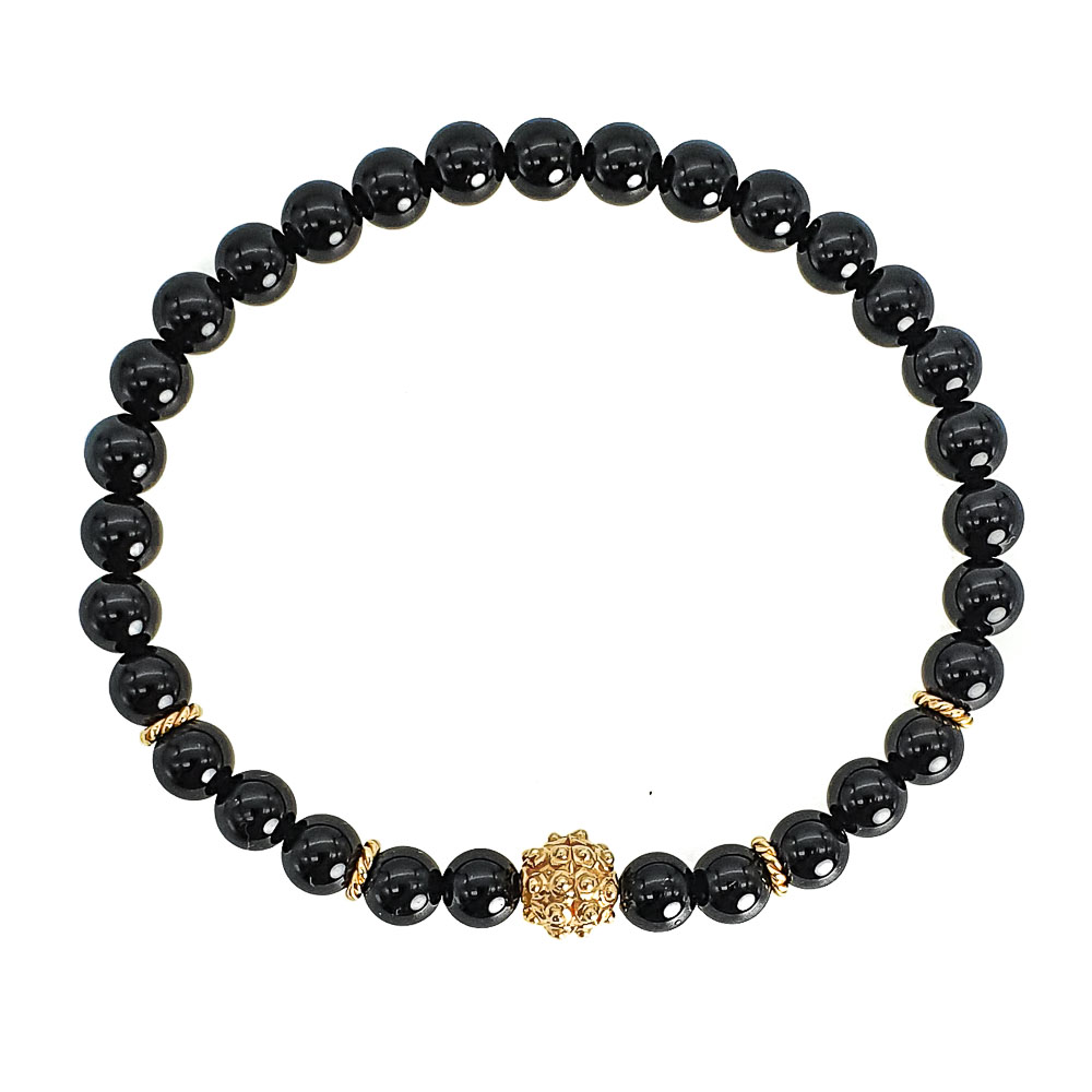 Black Onyx Bracelet, beaded bracelet, gemstone bracelet, power bracelet, onyx bracelet for men, onyx bracelet for women, luxury bracelet, designer bracelet, made in UK