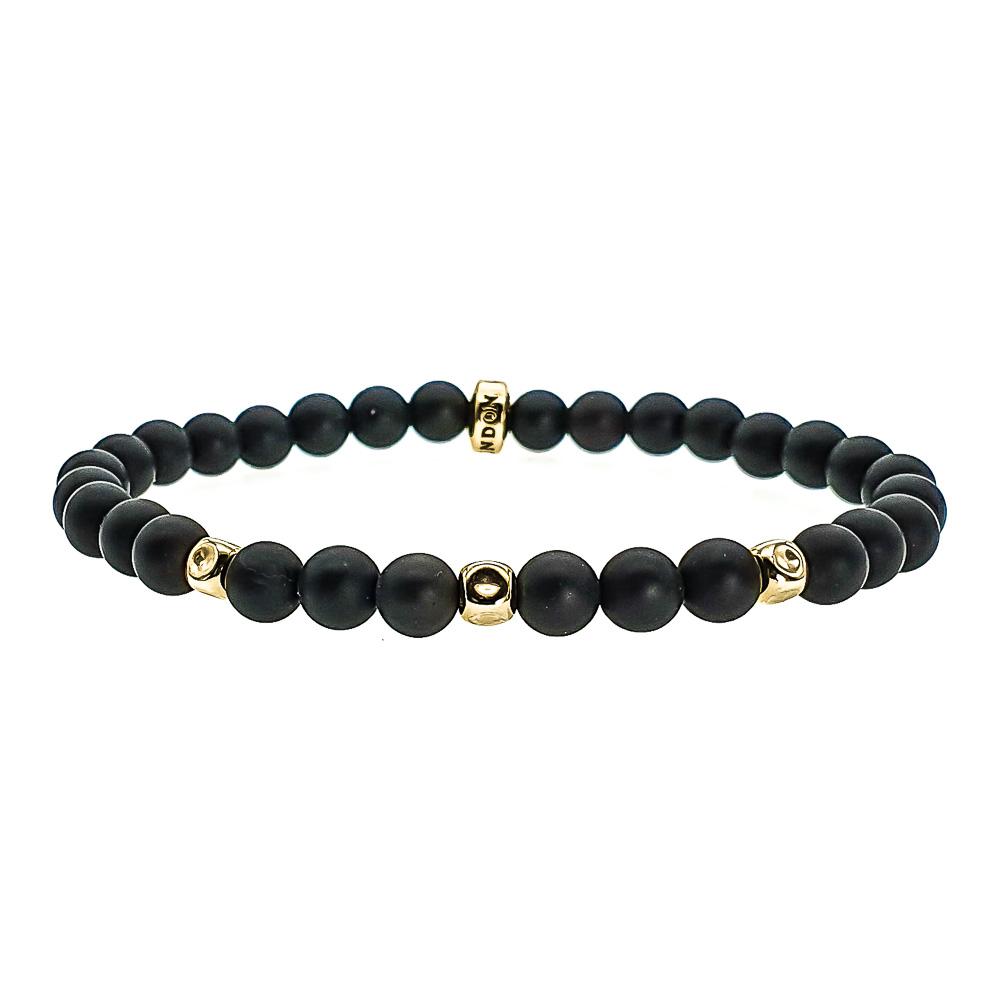 Onyx and 14k Gold Bracelet, black onyx bracelet, luxury black bracelet, designer black bracelet, mens bracelet, bracelet for men, bracelet for women, minimalistic gemstone bracelet, healing bracelet, bracelet with a meaning