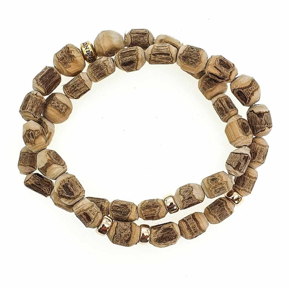 9ct Gold & Tulsi Wood Bracelet, luxury wood bracelet, tulsi and 9ct gold bracelet, 9ct gold wood bracelet, mala bracelet with 9ct gold, luxury mala, beaded bracelet for men, beaded bracelet for women, spiritual bracelet, healing bracelet