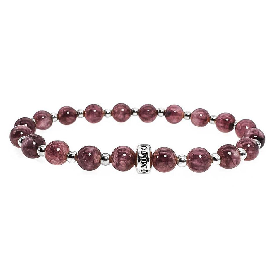 Lepidolite and Silver Bracelet, Lepidolite bracelet for women, luxury lepidolite bracelet, crystals for depression, purple bracelet, elegant bracelet