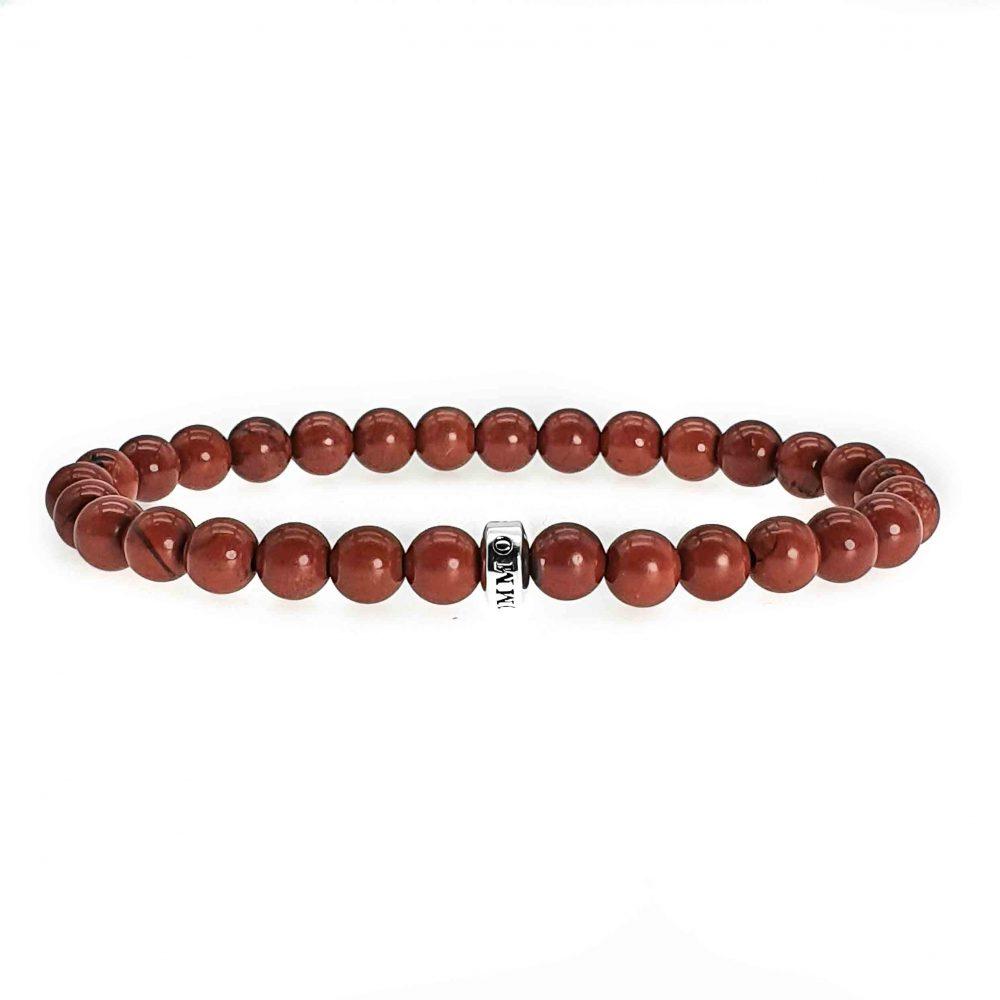 Red Jasper 'Simplicity' Bead Bracelet, red jasper bracelet, red bracelet, designer bracelet, beaded bracelet for men, mens bracelet, womens bracelet, gemstone bracelet