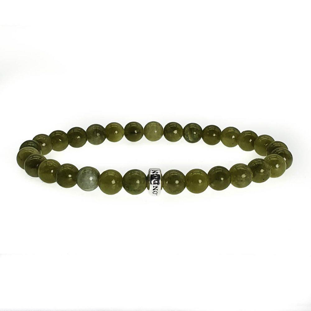 Jade 'Simplicity' Bead Bracelet, mens jade bracelet, jade and silver bracelet, jade beaded bracelet, healing bracelet, crystal bracelet, gemstone bracelet, green bracelet