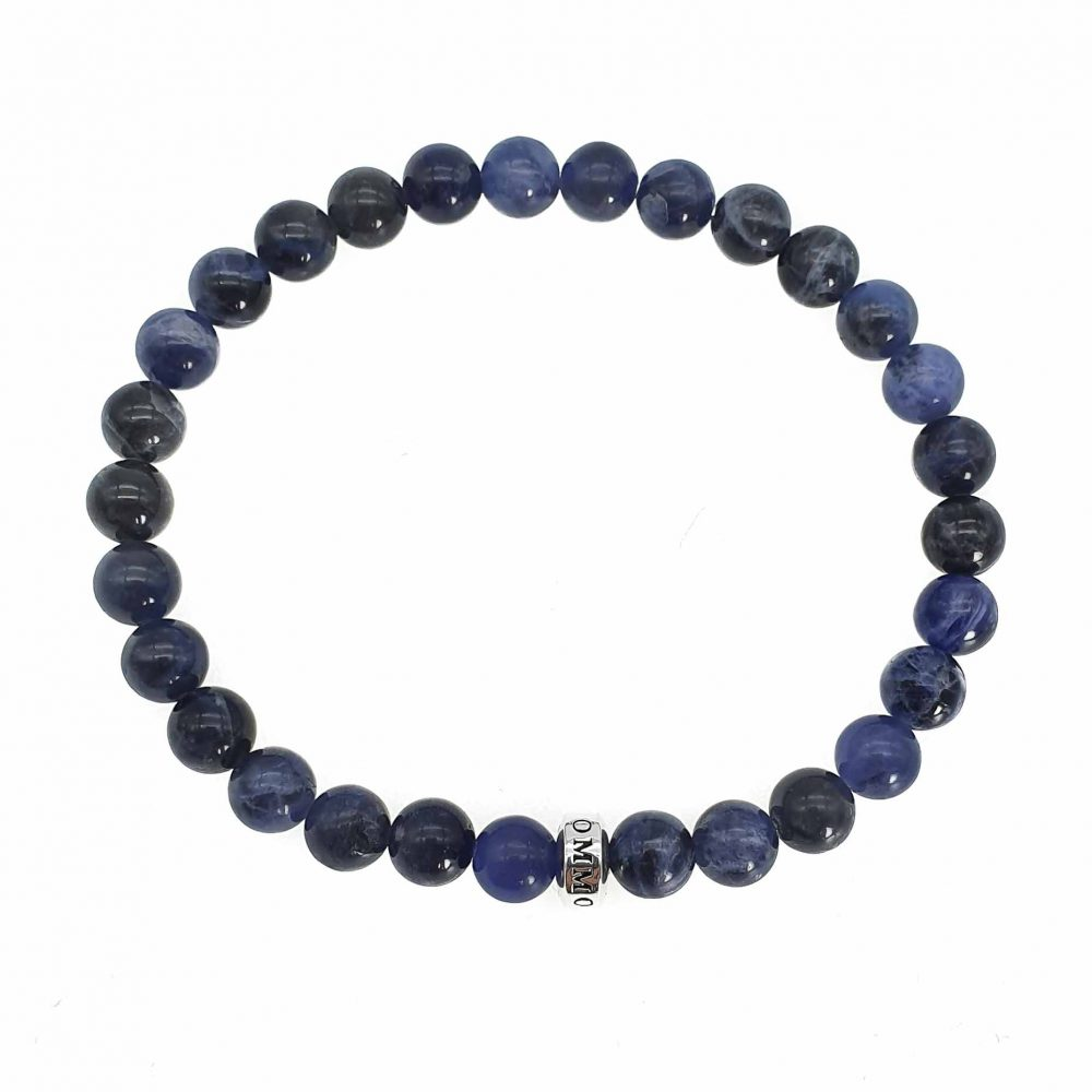 kyanite bracelet, kyanite simplicity bracelet, blue beaded bracelet, kyanite and silver bracelet, beaded bracelet for men, mens designer bracelet, mens luxury bracelet