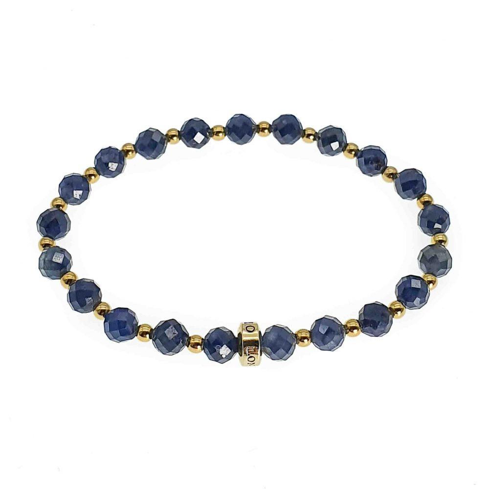 sapphire bracelet, sapphire beaded bracelet, luxury sapphire bracelet, elegant bracelet, crystal bracelet, gemstone bracelet, sapphire and gold bracelet