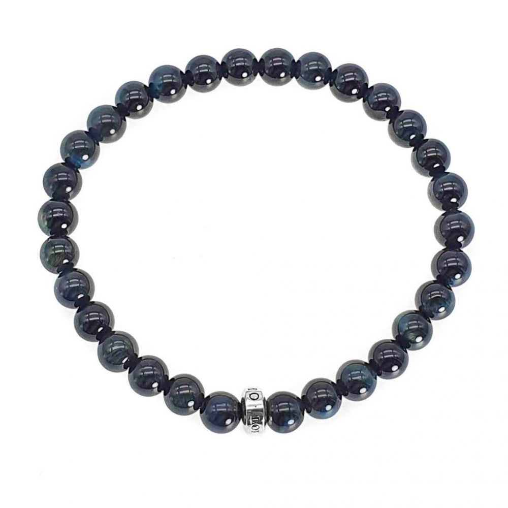 Blue Tiger's Eye 'Simplicity' Bracelet , blue tigers eye bracelet, beaded bracelet, bracelet for men, bracelet for women, luxury beaded bracelet, blue tigers eye jewellery