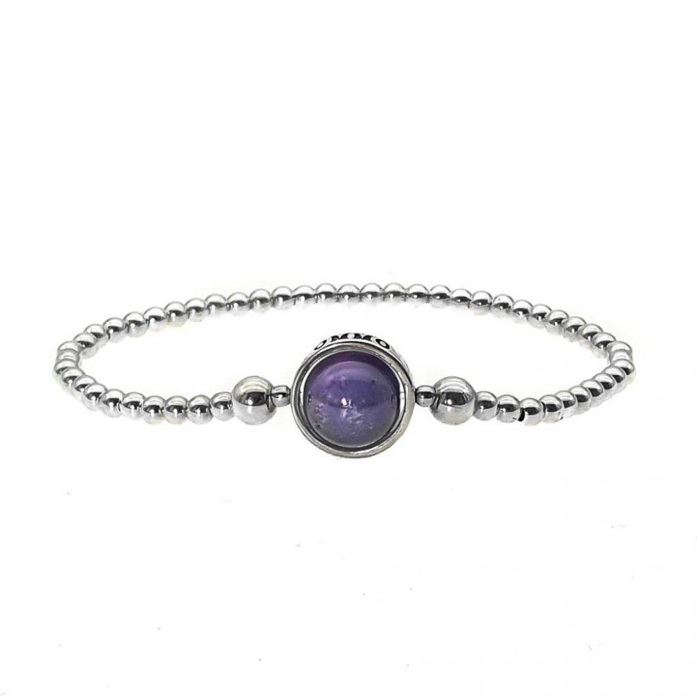 amethyst bracelet, silver beaded bracelet, silver bracelet, sterling silver bracelet 925 silver bracelet, amethyst jewellery, luxury jewellery, silver jewellery, ommo london