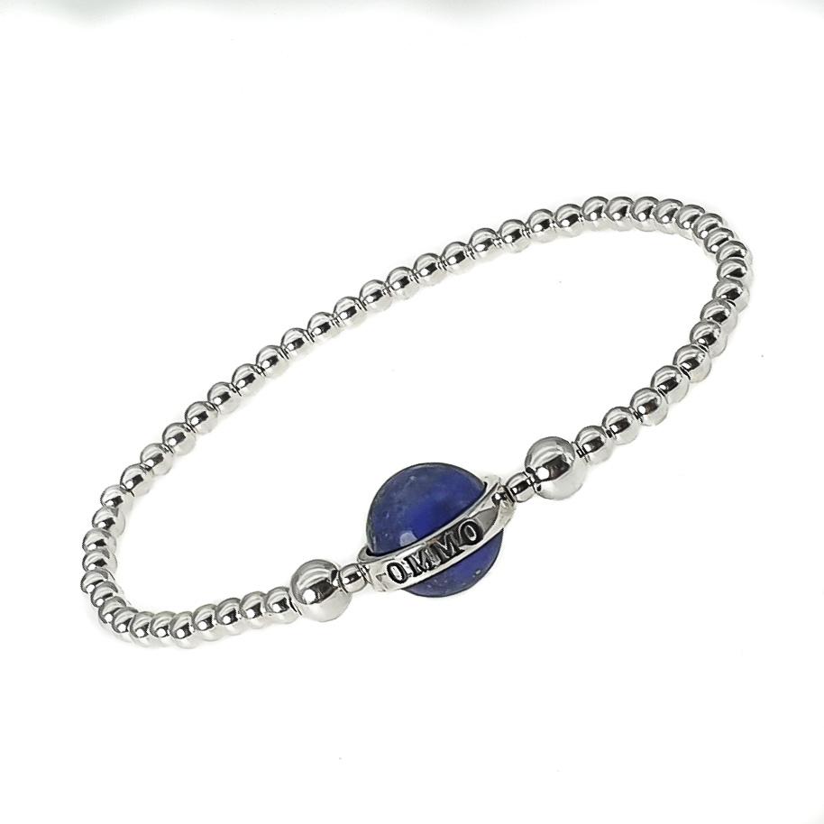 lapis lazuli bracelet, lapis bracelet, lapis lazuli and silver bracelet, lapis lazuli beaded bracelet, elegant bracelet for her, present for her, lapis bracelet for her