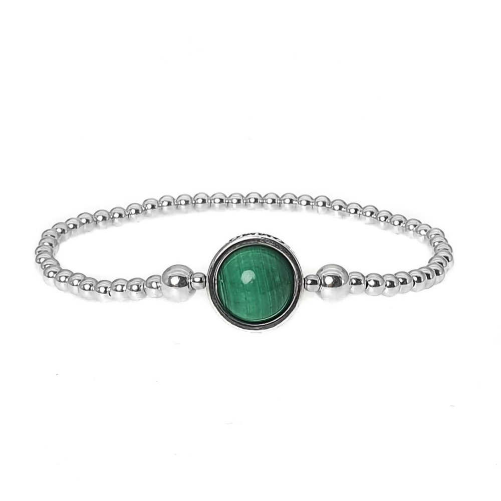 elegance malachite bracelet, silver beaded bracelet, bracelet for women, womens bracelet, jewellery for her, malachite jewellery, silver bracelet, sterling silver beaded bracelet