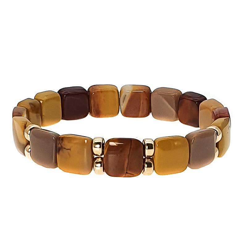 Mookaite and 9ct Gold Bracelet , Square bead bracelet, mookaite jewellery, luxury mookaite bracelet, designer bracelet, healing bracelet, crystal bracelet
