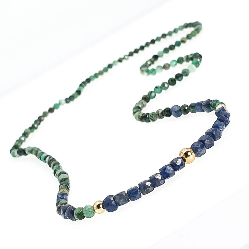 18k gold emerald sapphire bracelet OMMO London -170835