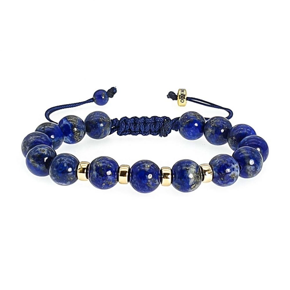 Lapis Lazuli and 9ct Gold Shamballa Bracelet, Chulky lapis lazuli bracelet, designer bracelet, gemstone bracelet with gold, beaded bracelet with gold, crystal bracelet, shamballa beaded bracelet, blue bracelet