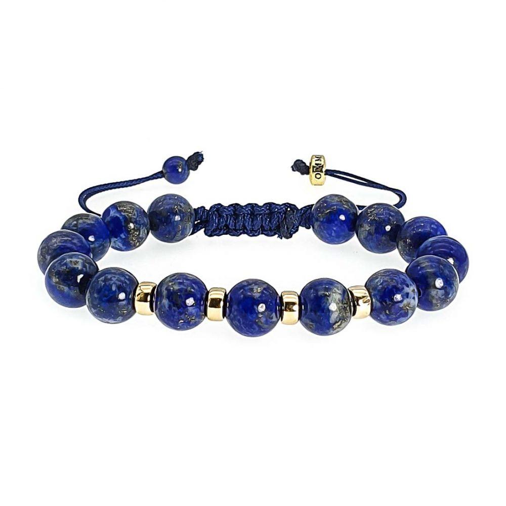 Lapis Lazuli and 9ct Gold Shamballa Bracelet, Chulky lapis lazuli bracelet, designer bracelet, gemstone bracelet with gold, beaded bracelet with gold, crystal bracelet, shamballa beaded bracelet, blue bracelet
