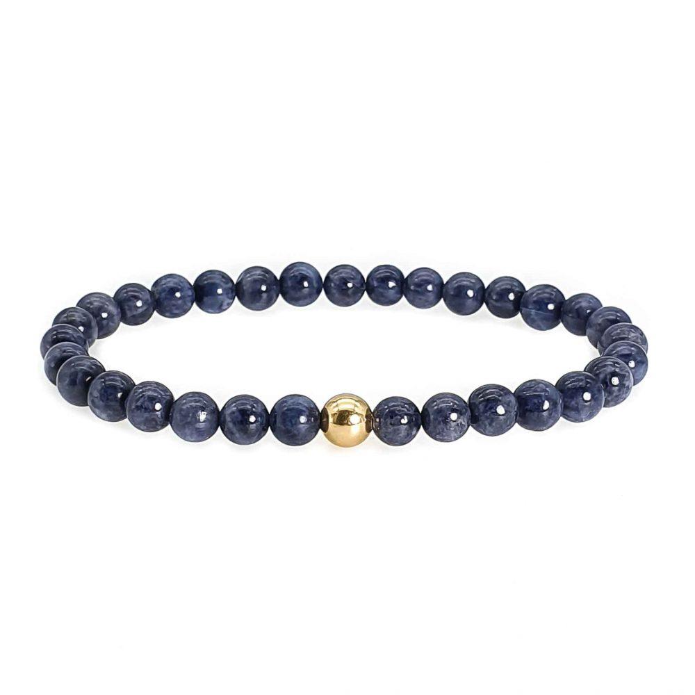 sapphire and 14k gold bracelet, sapphire beaded bracelet, sapphire bracelet for men, sapphire bracelet for women, ommo london
