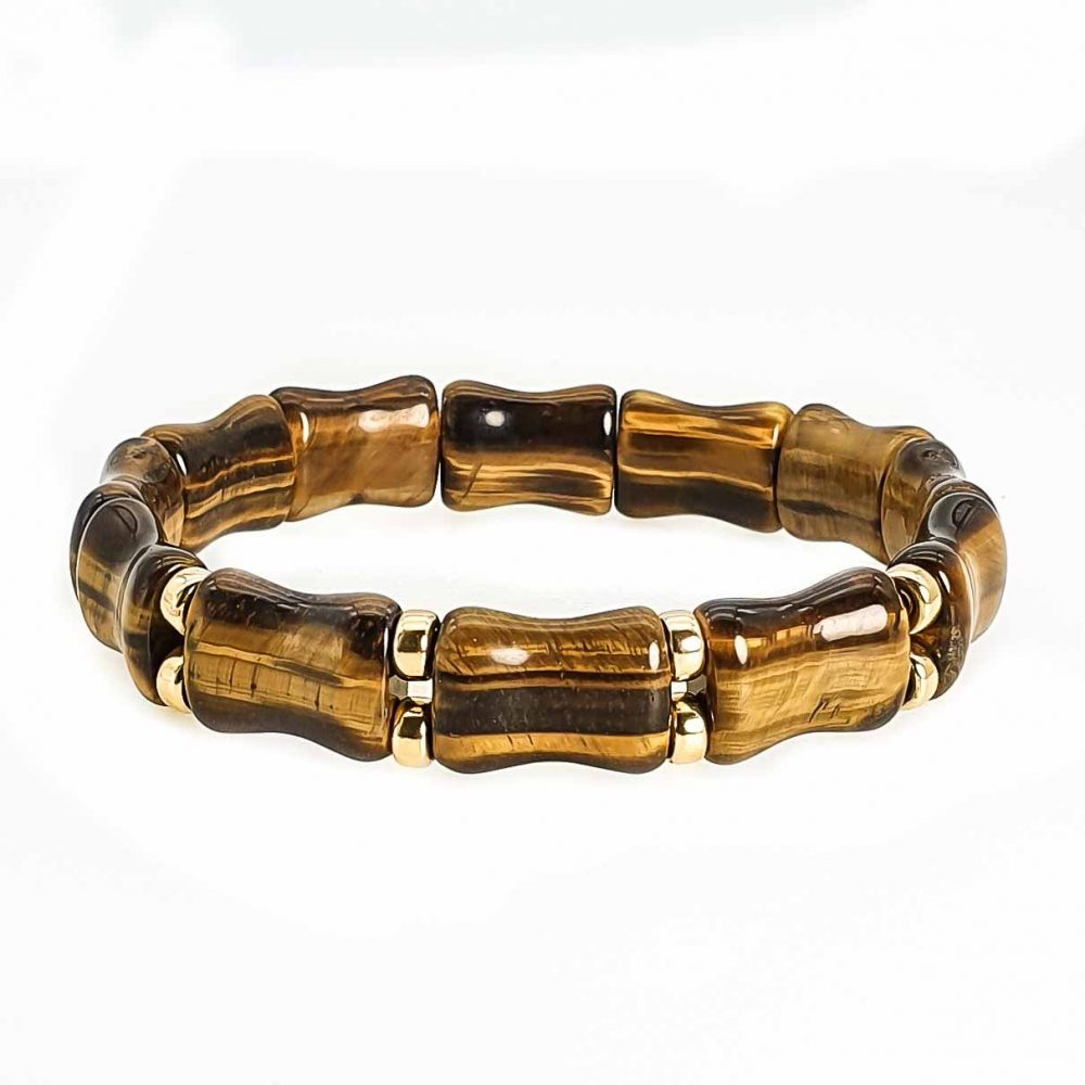 Tiger's Eye and 9ct Gold Bracelet, tigers eye jewellery, square bead bracelet, luxury square bead rbacelet, square bead tigers eye bracelet, healing jewellery, luxury jewellery, designer bracelet for men or women, ommo london