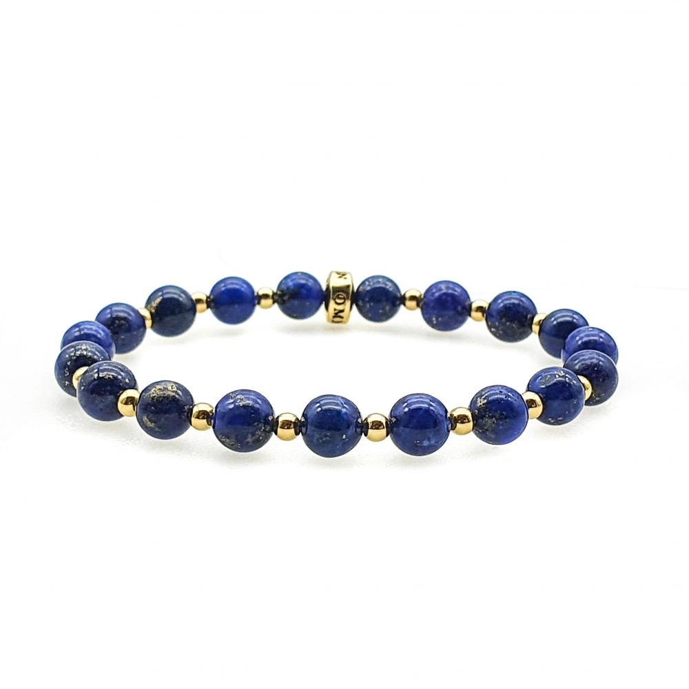 lapis lazuli beaded bracelet, lapis bracelet for women, lapis and gold bracelet, lapis jewellery, blue bracelet, lapis lazuli bracelet